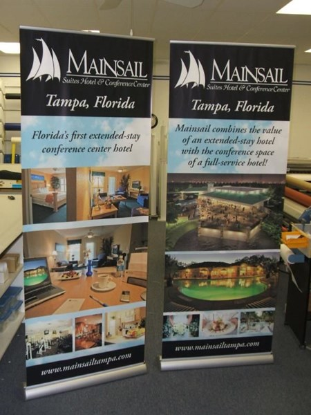 BS023 - Custom Banner Stand for Real Estate
