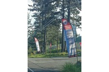- Custom Banners - Feather Banners - North End Fitness - Oak Harbor, WA