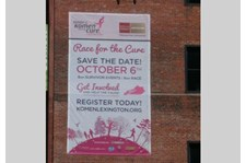 - Image360-Lexington-KY-Custom-Banner-Building-Wrap-non-profit-Susan-G-Komen-Race-for-the-cure